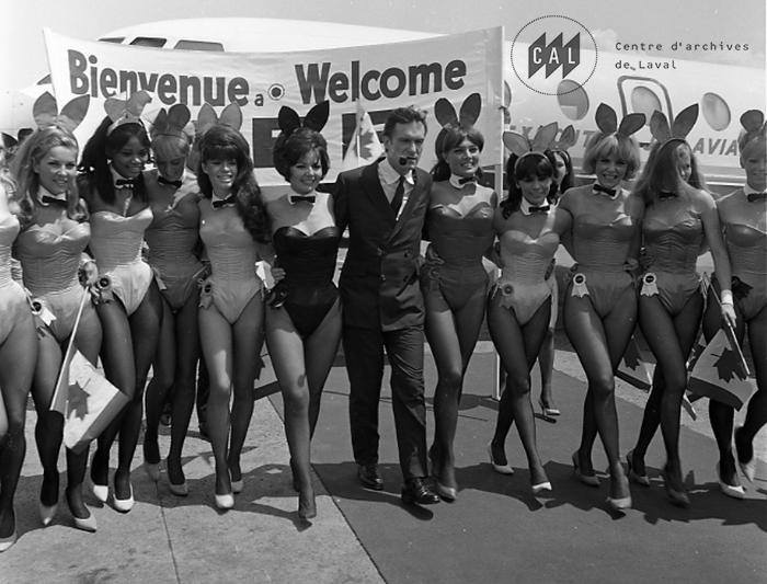 Hugh Hefner et le club Playboy de Montréal